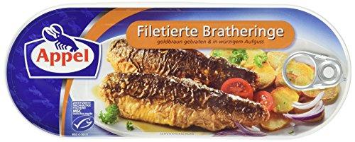 Preisvergleich Produktbild Filetierte Bratheringe,  in würzigem Aufguss,  MSC zertifiziert, 200 g