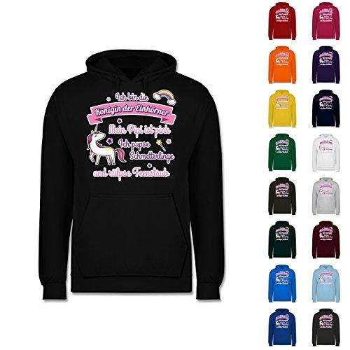 Statement-Shirts-Knigin-der-Einhrner-Mnner-Premium-Kapuzenpullover-Hoodie