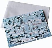 """""""Schlittenfahrt"""" - spielbare Riesen-Weihnachtskarte. Doppelfunktion: Weihnachts-Brettspiel + große G"""