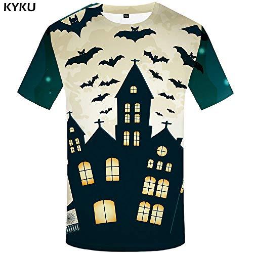 KYKU 3D T-Shirt Männer Halloween Kürbis T-Shirt Anime Cosplay Hand Druck T-Shirt Mond Hip Hop Herren Kleidung Sommer Streetwear Top (Halloween Hand-drucke Für)