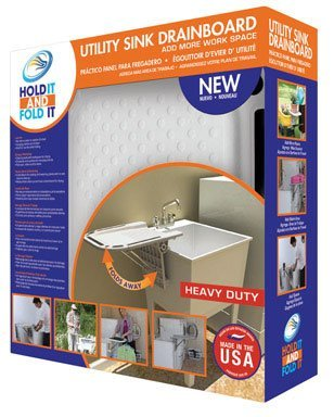 Talisman Designs 101 Hold It And Fold It Utility Sink Drain Board Flip-Up by Talisman Designs