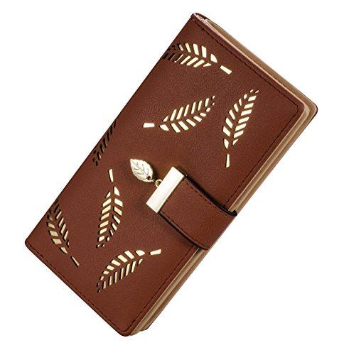 16715fee52e9a DNFC Geldbörse Damen Portemonnaie Lang Portmonee Groß Geldbeutel Elegant  Clutch PU Leder Geldtasche Schicke Handtasche mit