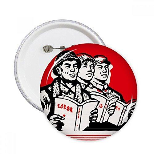 Worker Bauern Soldier China Rot Rund Pins Badge Button Kleidung Dekoration 5x Geschenk xl mehrfarbig (Bauer-patch)