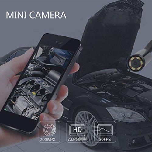 Prim345ownin Mini-Endoskop, 5 m, 4 LED, USB, wasserdicht, Schlangen-Inspektionskamera