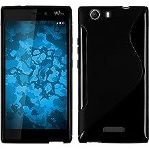 Funda de silicona para Wiko Ridge 4G - S-Style negro - Cover PhoneNatic Cubierta + protector de pantalla