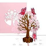 """Pop-Up Karte""""Butterflies in Love"""" - 3D Hochzeitskarte mit Umschlag - Einladung zur Hochzeit, Einladungskarten, Karte zur Verlobung, Valentinskarte & Geburtstagskarte"""