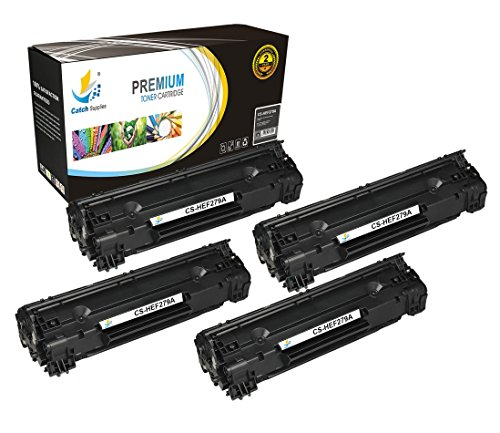 Catch Supplies Replacement CF279A - 79A Black Toner Cartridge 4 Pack |1,000 yield| Compatible with HP LaserJet Pro MFP M26nw, M26a, HP LaserJet Pro M12w, M12a