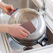 Bluelover Emery Gomma Magica Spugna Pulita Della Cucina Della spazzola per Pulizia in Rust (Rust Brown Set Esterno)