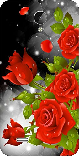 Shengshou Flowers Design Mobile Back Cover for Vivo Y21 - Red Green