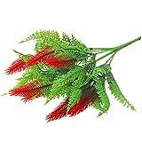 display08re 1Pc Felce Fern Plant Giardino casa di Nozze Festa di Natale Decorazione-Rosso