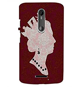 PrintDhaba Queen D-4396 Back Case Cover for MOTOROLA MOTO X3 (Multi-Coloured)