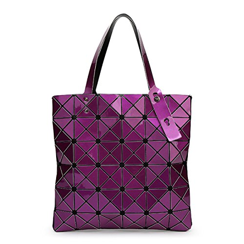 Lady 6 * 6 Forma Romboidale Pacchetto Geometrico Cubo Piegatura Varietà Sacchetto Di Spalla Moda Casuale Borsa Purple