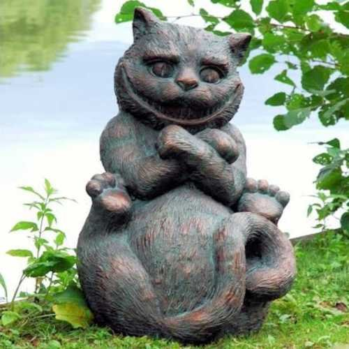 Pollys Garden and Gifts for Home & Garden Grinsekatze (von Alice 's Adventures in Wonderland) Garten Statue Ornament