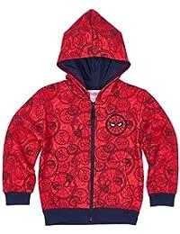 Spiderman Chicos Chaqueta sudadera con capucha - Rojo
