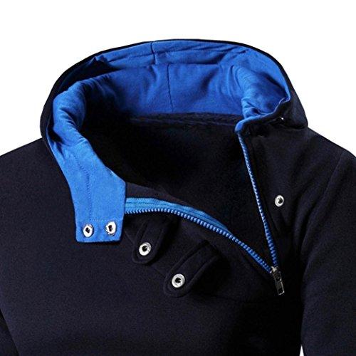 Herren Hoodie Xinan Retro Langarm Sweatshirt Tops Jacke Mantel für Männer Oberbekleidung (XXXL, Marine)