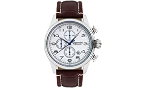 Gigandet Timeless Montre Homme Chronographe Analogique Quartz Marron Blanc G41-003