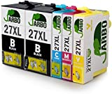 JARBO Compatiable Epson 27XL (T2711 T2712 T2713 T2714) Ink Cartridges 1Set+1BK High Capacity Ink Compatible with Epson WF 3640 7610 3620 7620 7110 Printer (2 Black,1 Cyan,1 Magenta,1 Yellow)