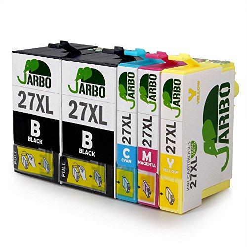 JARBO 27 XL Sostituzione per Epson 27XL Cartucce (2 Nero,1 Ciano,1 Magenta,1 Giallo) Compatibili per Epson WorkForce WF-7610 WF-7620 WF-3620 WF-3640 WF-7110 WF-7710 WF-7715 WF-7720 WF-7210