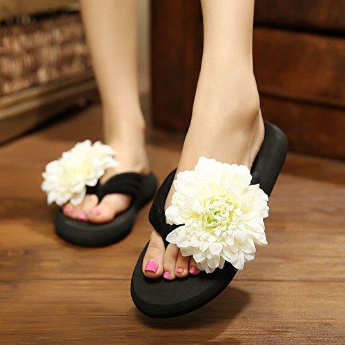 Pente avec sandales à talons hauts à bascule --- 3CM Pantoufles féminines de mode d'été / Chaussures sexy mignonnes de plage Tailles de couleurs multiples --- Herringbone fashion sweet Sandals 1003