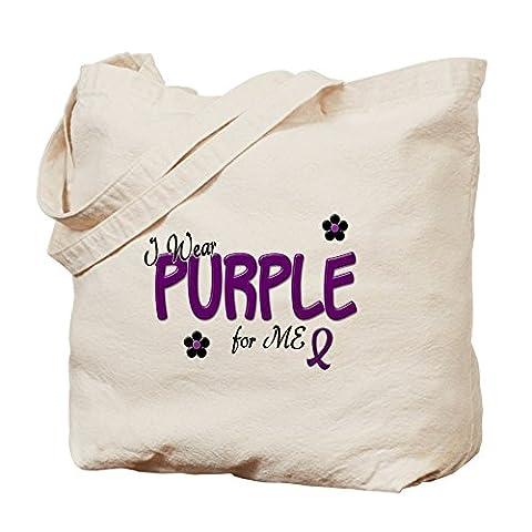 cafepress–Je Porter pour me violet 14–Toile naturelle Chiffon Sac fourre-tout, Sac à provisions