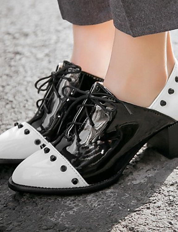 NJX/ hug Zapatos de mujer-Tacón Robusto-Tacones / Punta Redonda / Punta Cubierta-Tacones / Oxfords-Oficina y Trabajo...