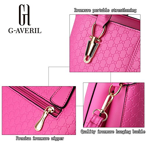G-AVERIL, Borsa a mano donna viola Purple Purple