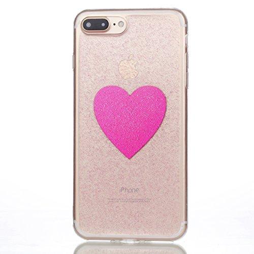 iPhone 7 Plus/iPhone 8 Plus Hülle, Voguecase Silikon Schutzhülle / Case / Cover / Hülle / TPU Gel Skin Handyhülle Premium Kratzfest TPU Durchsichtige Schutzhülle für Apple iPhone 7 Plus/iPhone 8 Plus  EPOXY-Die Liebe 08