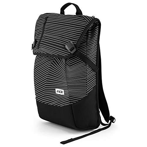 """AEVOR Daypack Rucksack - erweiterbar 18 auf 28 Liter, ergonomisch, Laptopfach 15\"""", wasserabweisend, Fineline Black"""