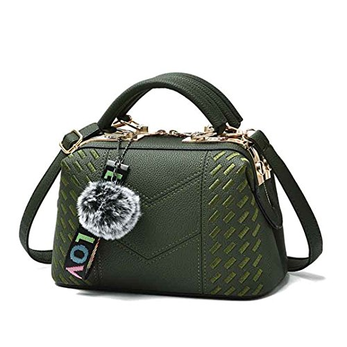Damen Taschen Großhandel Handtaschen Nachricht Bag Shoulder Diagonal Style Bag Green 24.5x15x13cm