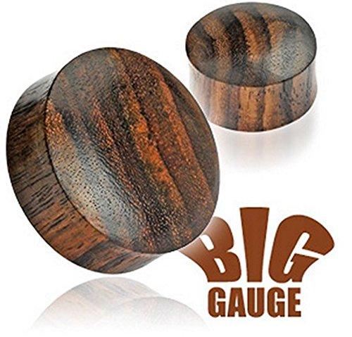 45 millimetri naturale organico solido Sono di legno Big Ear Gauge Tunnel Gambe Plug Piercing (Grandi Piercing Gauge)