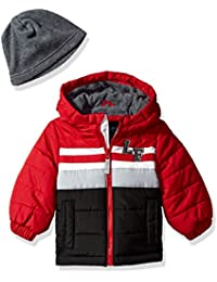 London Fog Baby-Boys Pieced Puffer Coat With Hat