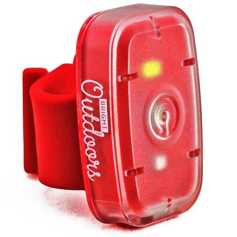 LED Sicherheitslicht / Taschenlampe (1er) Rote und Weiße Lichter für das Rennen, Gassigehen, Radfahren und Laufen. Dauerhafte Modi. USB-Wiederaufladbar mit Fahrradbügel, Armbinde und Gürtelclip