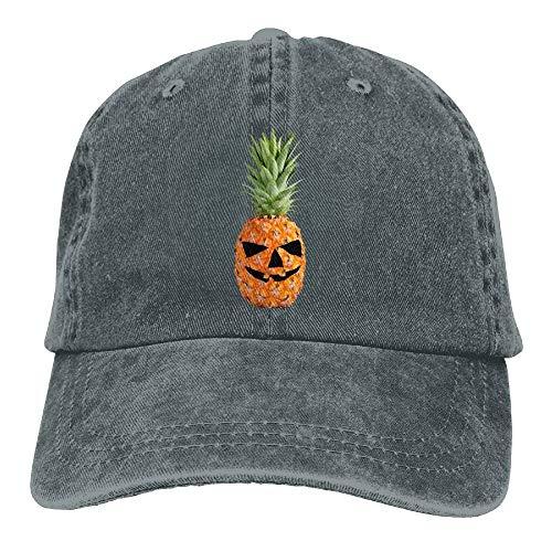 Hoklcvd Männer & Frauen Halloween kürbis Ananas klassisch gewaschen gefärbte Baumwolle einfarbig baseballmütze one Size multicolor13