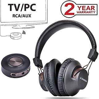 Avantree HT3189 Funkkopfhörer für Fernseher mit Bluetooth Transmitter Set, AUX, 3.5mm, RCA PC USB (Nicht Optischen), Plug & Play, Keine Verzögerungen mehr, HOHE REICHWEITE, 40 Stunden Akku