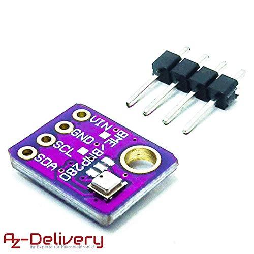 AZDelivery ⭐⭐⭐⭐⭐ GY-BME280 Barometrischer Sensor für Temperatur, Luftfeuchtigkeit und Luftdruck mit Gratis eBook -
