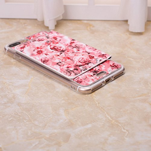 Petit Fleurs fraîches Conception durable antichoc avec Fold clip Case Slot pour carte stand Case Wallet pour iPhone 7 ( Color : 6 , Size : IPhone 7 ) 4