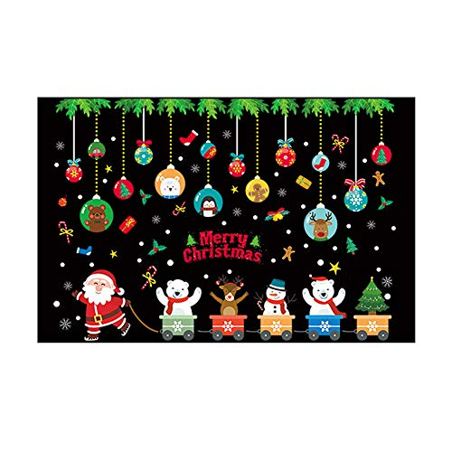 Adornos Ventana Navidad Adhesivos Ventana Colores
