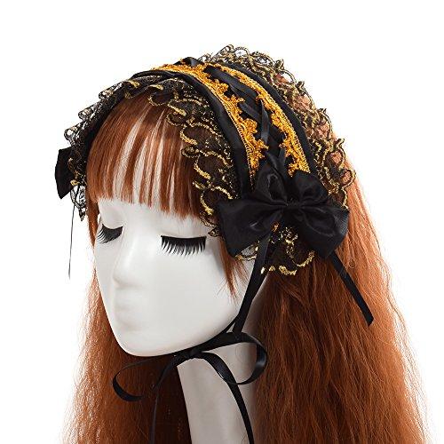 GRACEART Frauen Dienstmädchen Bowknot Stirnband Kopfschmuck (Schwarz 2)