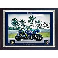 Valentino Rossi Yamaha SIGNED Autograph Foto Print Superbike gerahmt