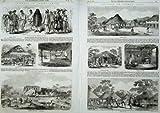 Mercato 1856 di Freetown Waterloo della Piazza della Capanna del Sierra Leone