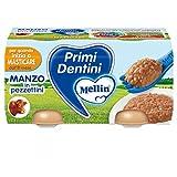 Mellin Primi Dentini Manzo In Pezzettini 2x80g New