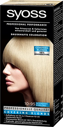 Syoss Coloration 10-95 Intensives Eisblond, 3er Pack (3 x 115 ml)