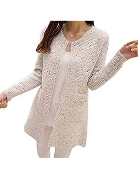 Minetom Cárdigans Mujeres Bolsillo Invierno Suelta Chaqueta De Abrigo Chaqueta De Punto Jersey De Abrigo Pullover