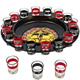 Shot Glass Roulette Drinking Game Set With Wheel, 2 Balls and 16 Glasses by Better Line by Better Line ®