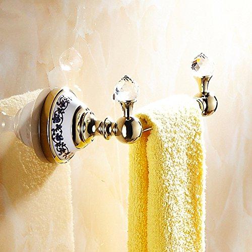 Global Brands Online WANFAN 6318 Home Badezimmer Dekoration Luxus Europäischen Stil Kristall Wand Handtuchhalter