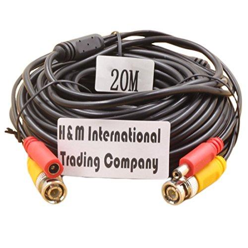 Generisches BNC Video und DC Power-Verlängerungskabel / Blei mit Anschluss für Überwachungskameras / CCTV-Überwachungskamera-Anschluss 20m -