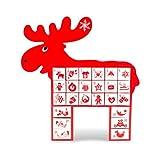pajoma Adventskalender Rudolph aus Holz, Weihnachten