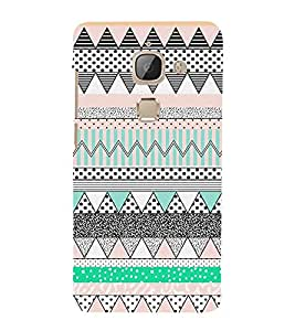 Abstract Zig Zag Pattern 3D Hard Polycarbonate Designer Back Case Cover for LeEco Le Max 2 :: Letv Le Max 2