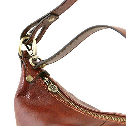 Tuscany Leather Sabrina Borsa in pelle da donna Nero Miele