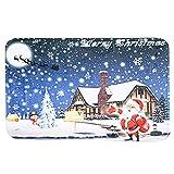 Anself Home Use Christmas Carpet Mat Anti-Skidding Doormat Floor Entryways Indoor Front Door Bathroom Mat Decor